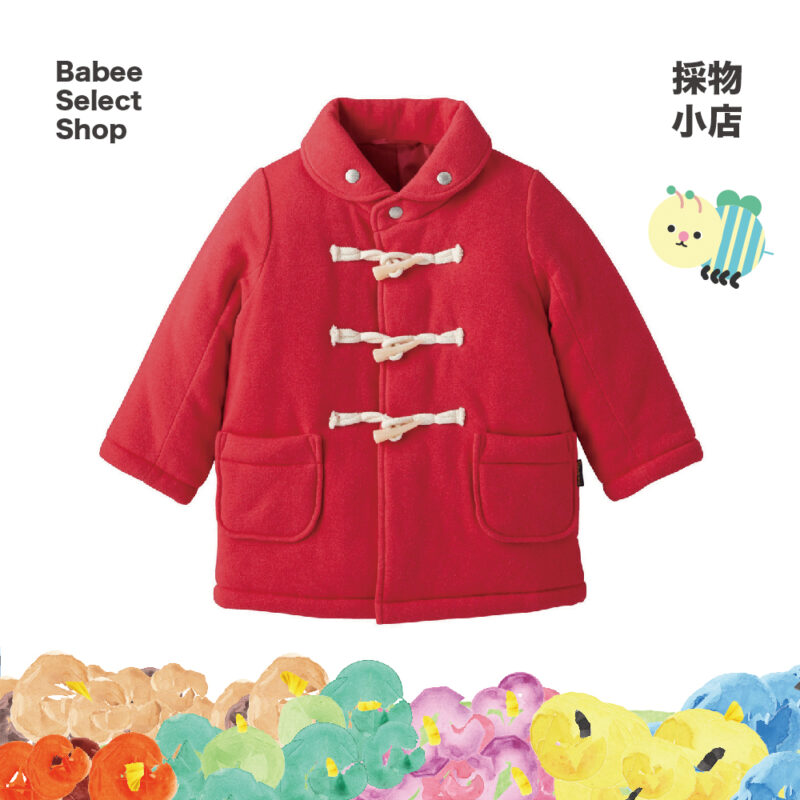 Combimini | 聖誕紅紅棉質大衣